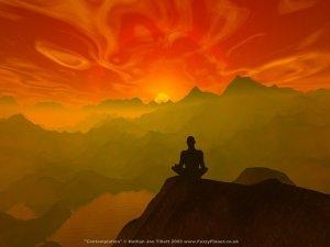 Buddist meditating