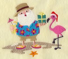 Santa w-Flamingo