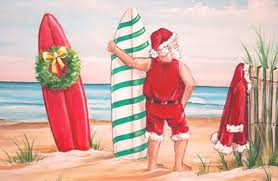 Santa w- Surf Boards