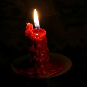 candle - red flickering