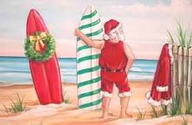 Santa w- Surf Boards