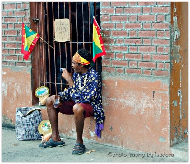 Grenada Drunk Man & Shell Art.web (1024x884)