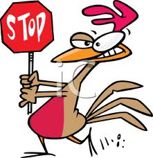 Chicken walking - Safe sign