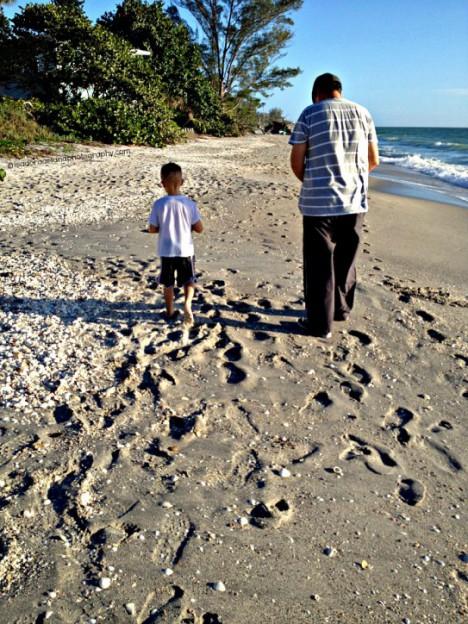Al & Jeffrey Footprints on the Sand1024.web